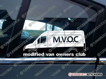 MVOC modified van owners club sticker -for VW Crafter van - medium